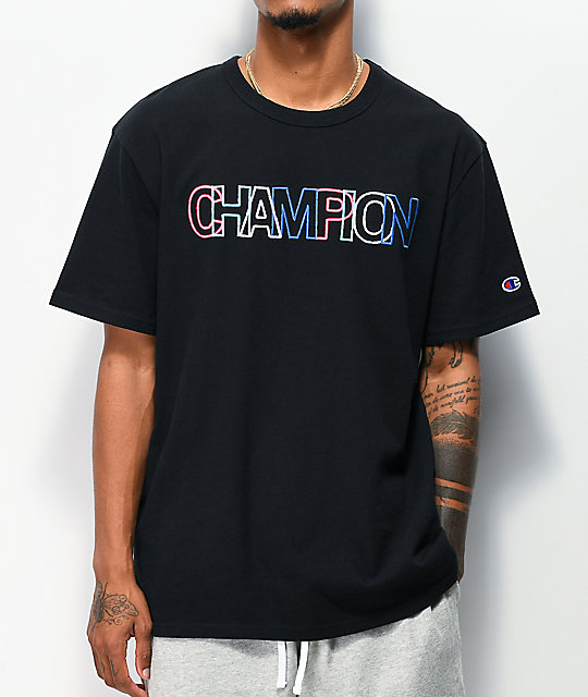 Champion Heritage Multicolor & Black T-Shirt