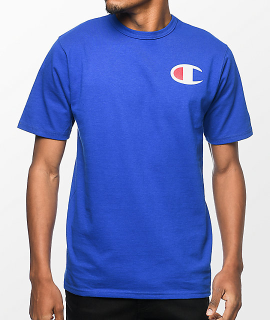 Champion Heritage Patriotic C Blue T-Shirt