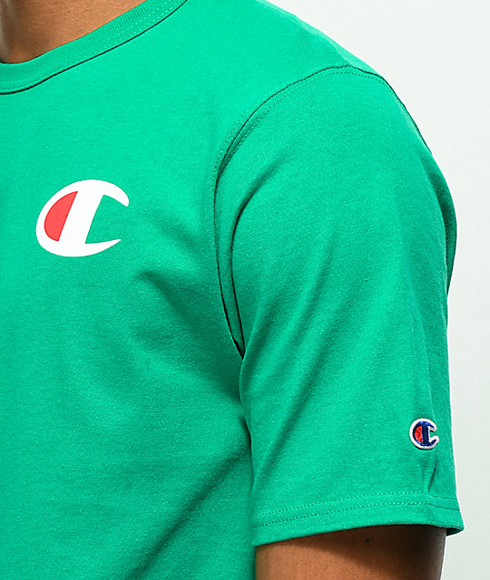Champion Heritage Patriotic C Kelly Green T-Shirt
