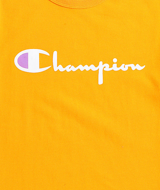 Champion Heritage Script Gold T-Shirt