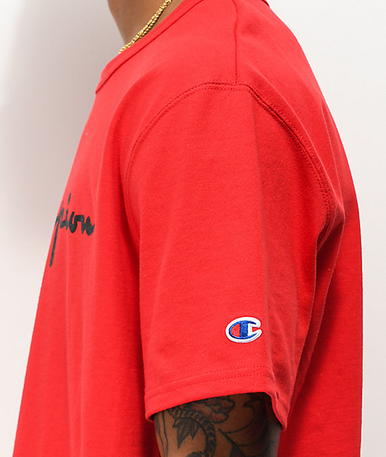 Champion Heritage Script Red T-Shirt