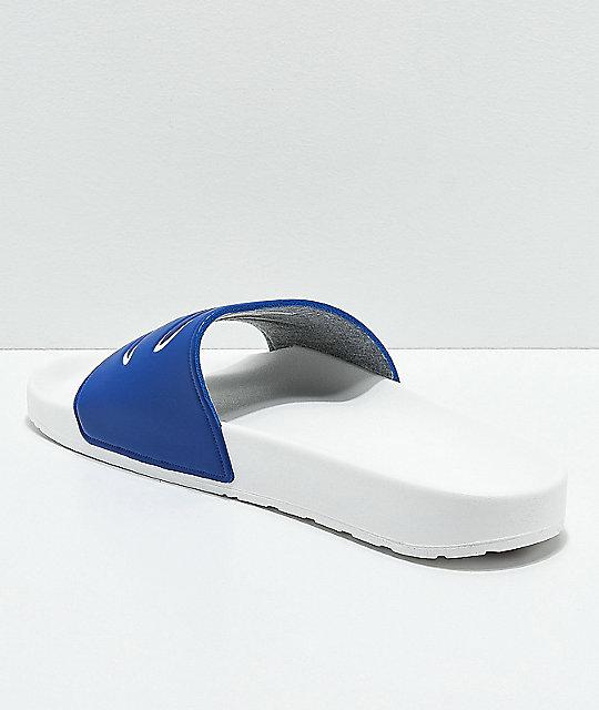 5e29ca7db ... Champion IPO Blue   White Slide Sandals ...
