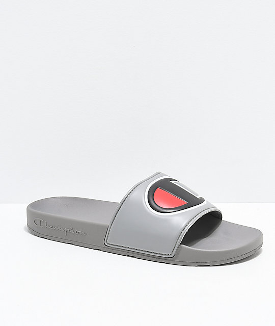 3321b5aa0 Champion IPO Grey Slide Sandals