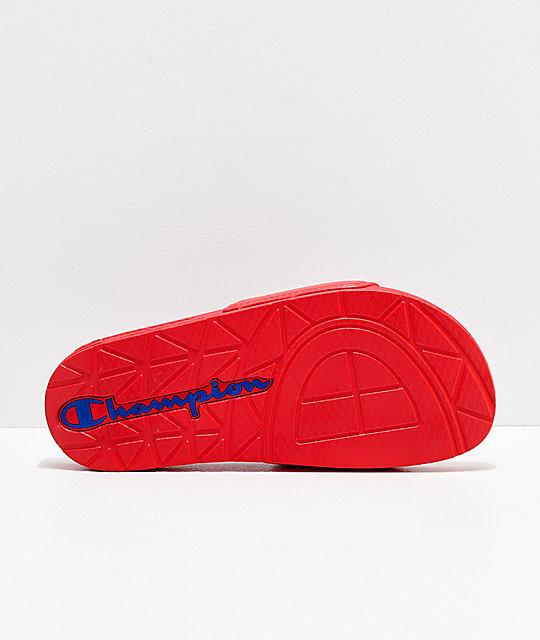 e256d1ac6 ... Champion IPO Jock Red Slide Sandals
