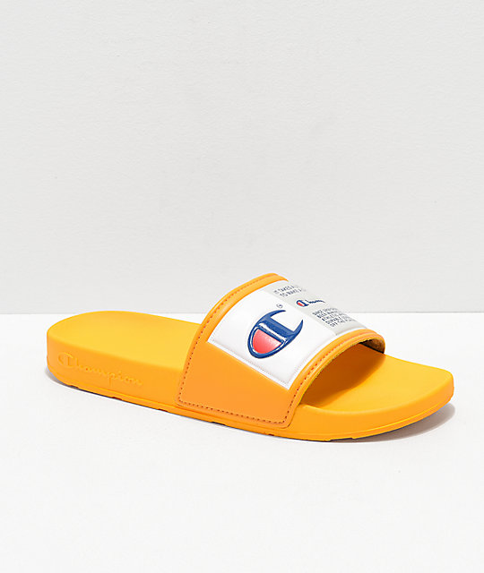 4f9fd154939 Champion IPO Jock Yellow   White Slide Sandals
