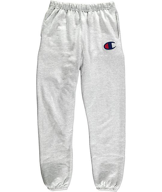 1814aba166cf Champion Large C Reverse Weave Banded Bottom Silver   Grey Sweatpants
