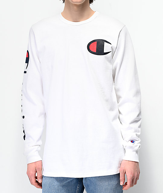 1502ed4cb Champion Large C White Long Sleeve T-Shirt | Zumiez