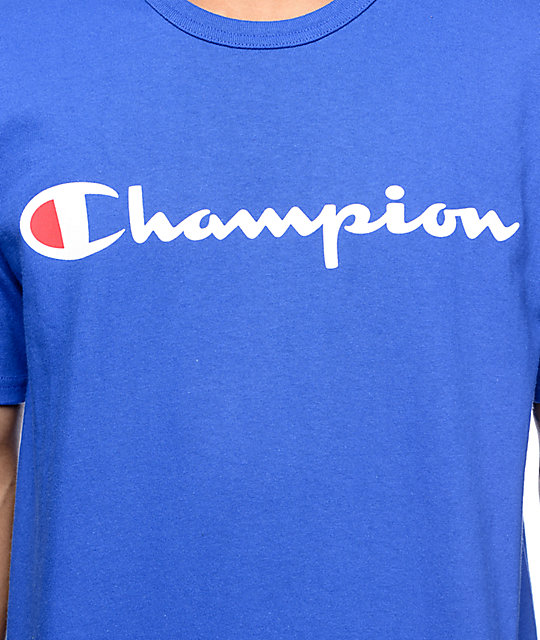 Champion Logo Blue T-Shirt
