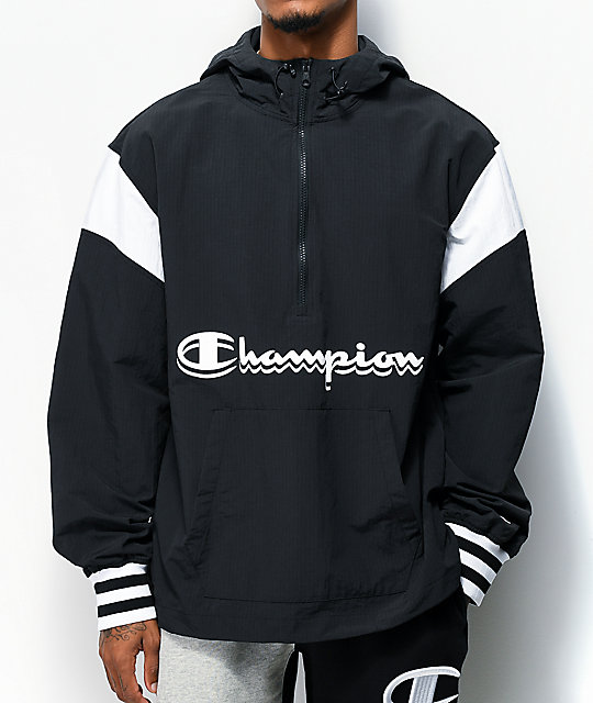 Champion Manorak 2 Black Anorak Jacket