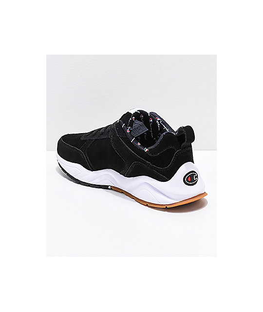 f69cd13fbd4 ... Champion Men s 93 Eighteen Big C Black   White Shoes ...