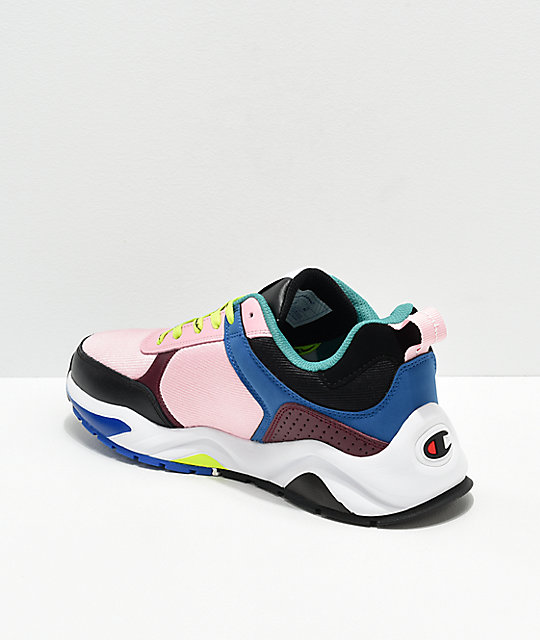 0f974b12550 ... Champion Men s 93 Eighteen Big C Pink   Multi-Colorblock Shoes ...