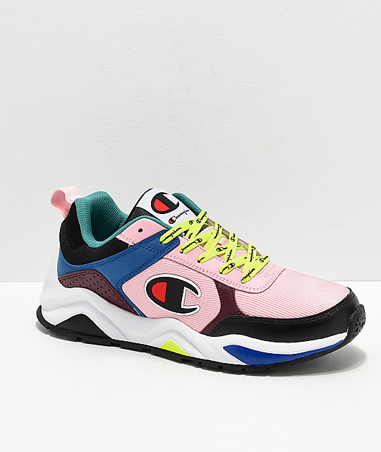 bc9d479f2f8 Champion Men s 93 Eighteen Big C Pink   Multi-Colorblock Shoes