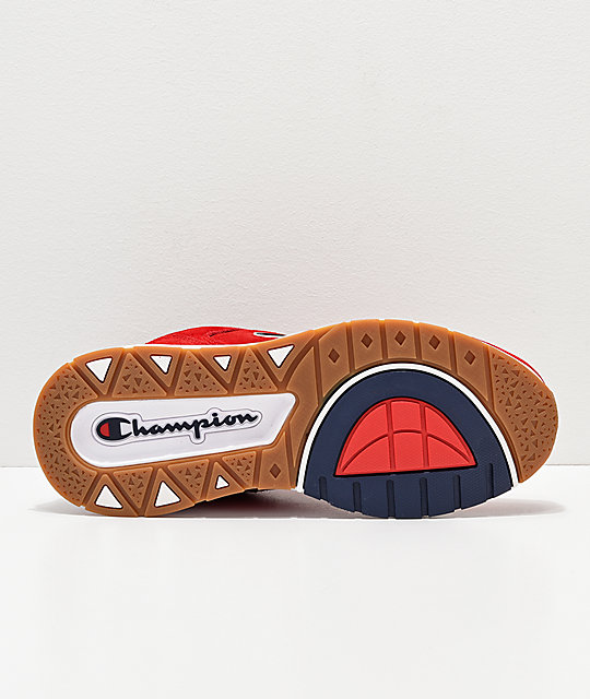 802743322 ... Champion Men s 93 Eighteen Big C Red   White Suede Shoes
