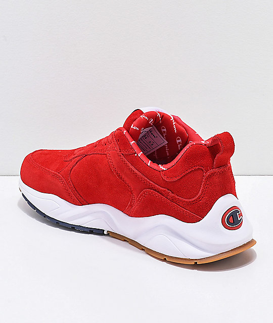 777823b1fd1 ... Champion Men s 93 Eighteen Big C Red   White Suede Shoes ...