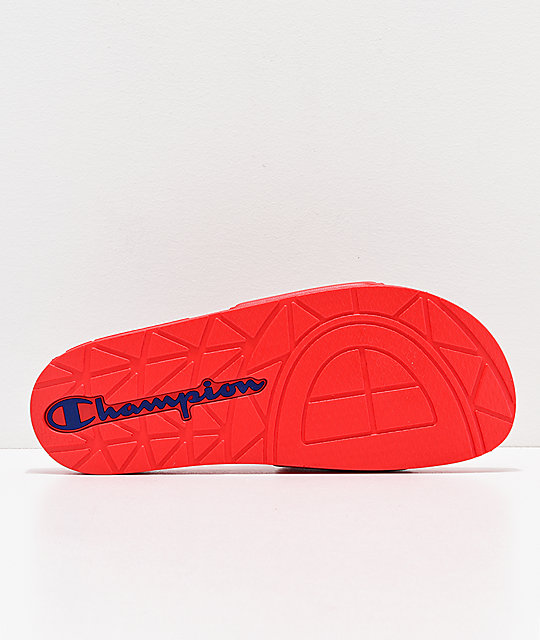 2998bb8c0ae66 ... Champion Men s IPO Red Slide Sandals