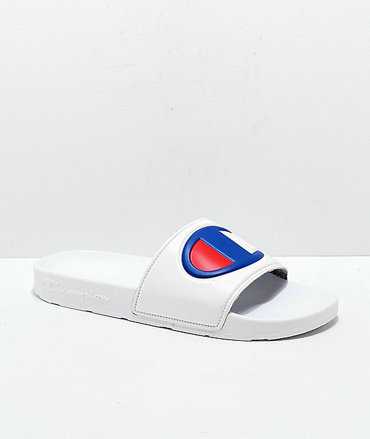 3db6d4c33472 Champion Men s IPO White Slide Sandals
