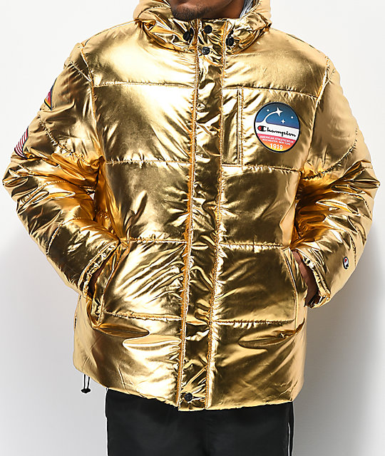97b1d45c59df Champion Metallic Gold Puffer Jacket