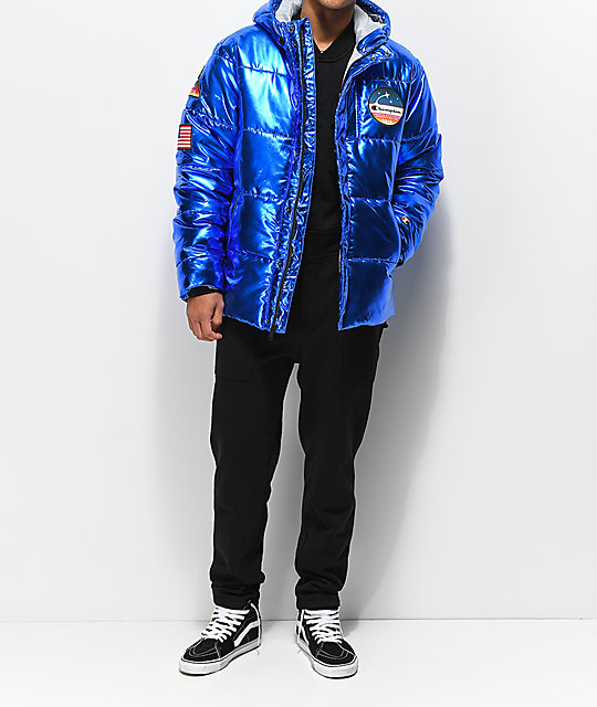 Champion Metallic Teal Puffer Jacket