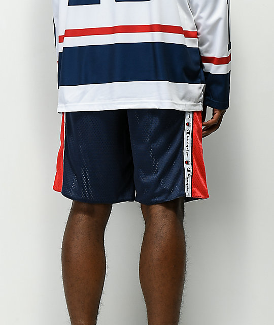 f1dac9b7fe0660 ... Champion Navy   Red Reversible Mesh Shorts ...