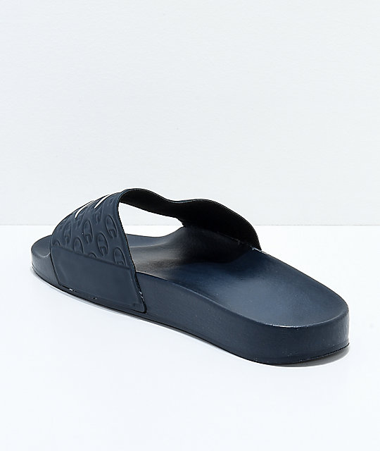 Champion Navy Slide Sandals