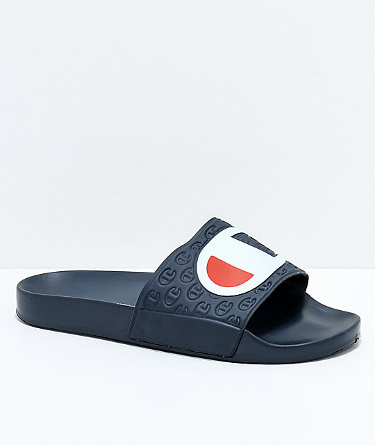 bd5f7bca2fa Champion Navy Slide Sandals
