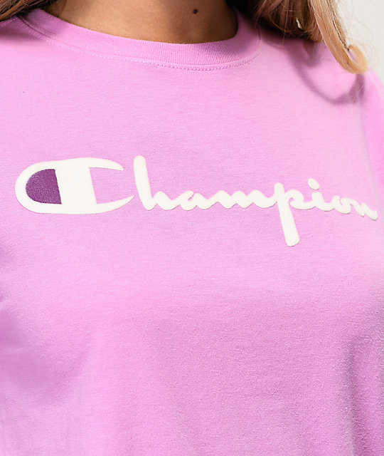 Champion OG Direct Flock Orchid T-Shirt