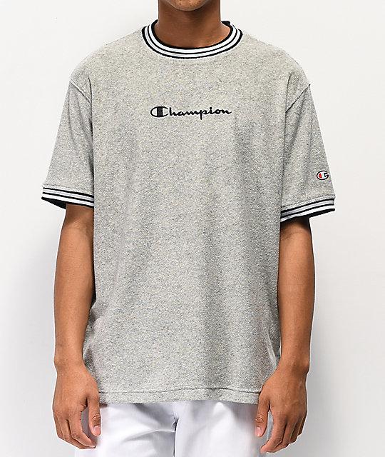 5498ec2fc Champion Oxford Grey Terry Ringer T-Shirt | Zumiez.ca