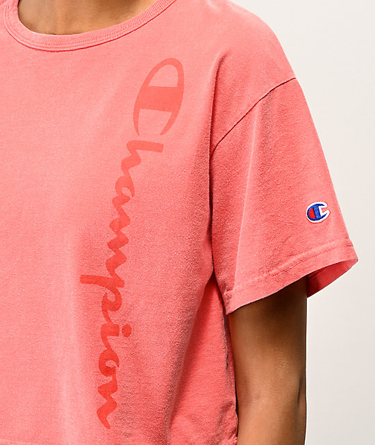 Champion Papaya Pigment Dyed Crop T-Shirt