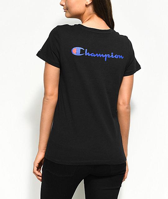 44940655 Champion Patriotic Black T-Shirt | Zumiez