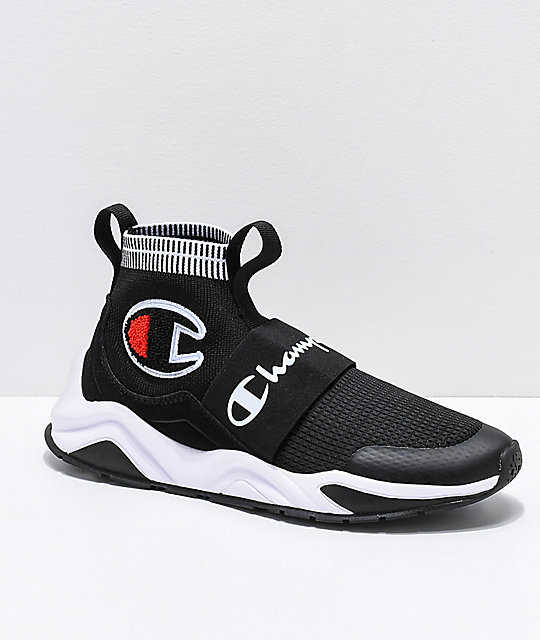 8e5d9e233 Champion Rally Pro Black   White Shoes