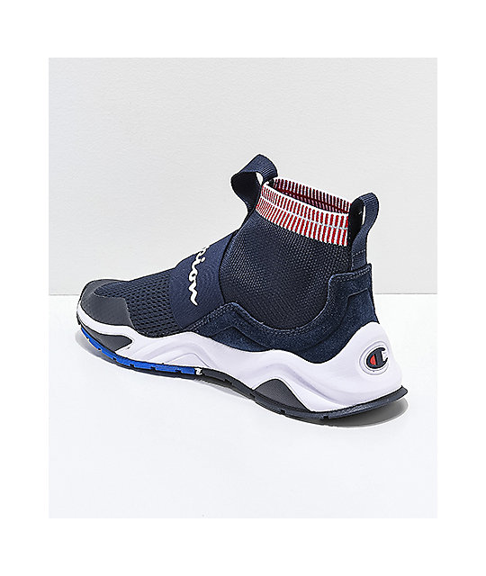 5811ef5dc ... Champion Rally Pro Navy   White Shoes ...