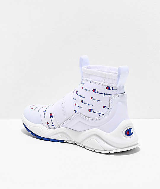 Champion Rally Script zapatos blancos