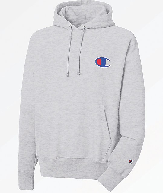 online store enjoy cheap price shop for authentic Champion Reverse Weave Big C Logo Grey Hoodie