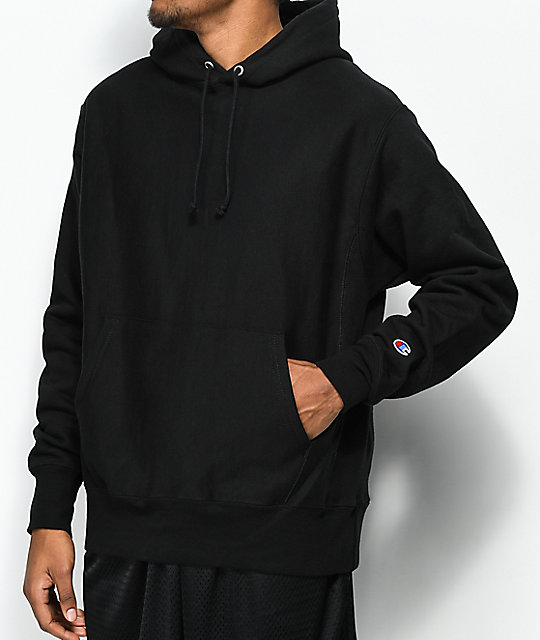 985ddb41e924 Champion Reverse Weave Black Hoodie