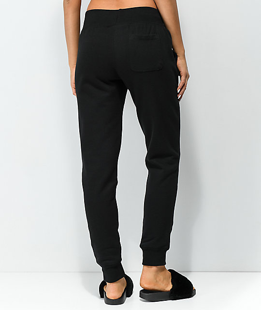 Champion Reverse Weave Black Jogger Sweatpants