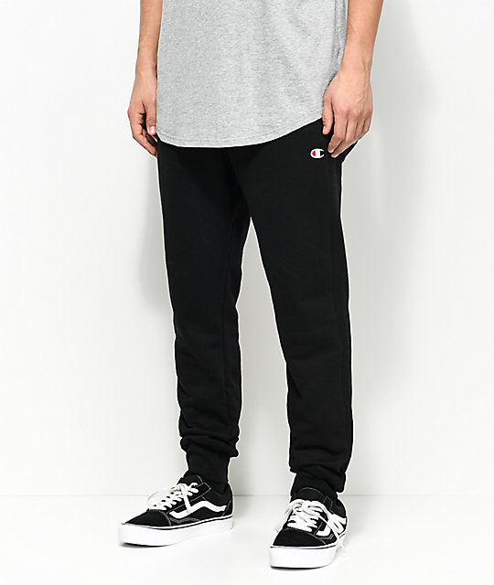 classic the latest great look Champion Reverse Weave C Logo Black Jogger Pants