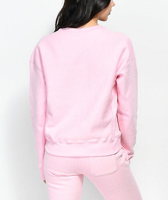 413f47fd Champion Reverse Weave Candy Pink Crew Neck Sweatshirt   Zumiez