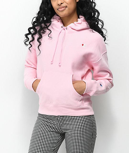 Champion Reverse Weave Candy Pink Hoodie  af8018eee