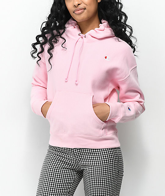 acfb072974fb Champion Reverse Weave Candy Pink Hoodie