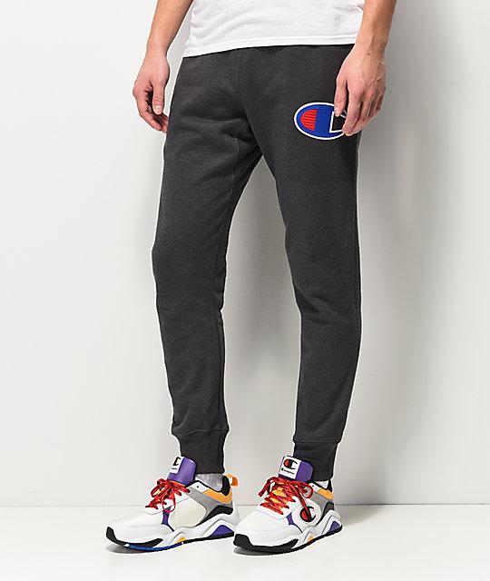 e2984bac11ad Champion Reverse Weave Chain Stitch Grey Jogger Sweatpants