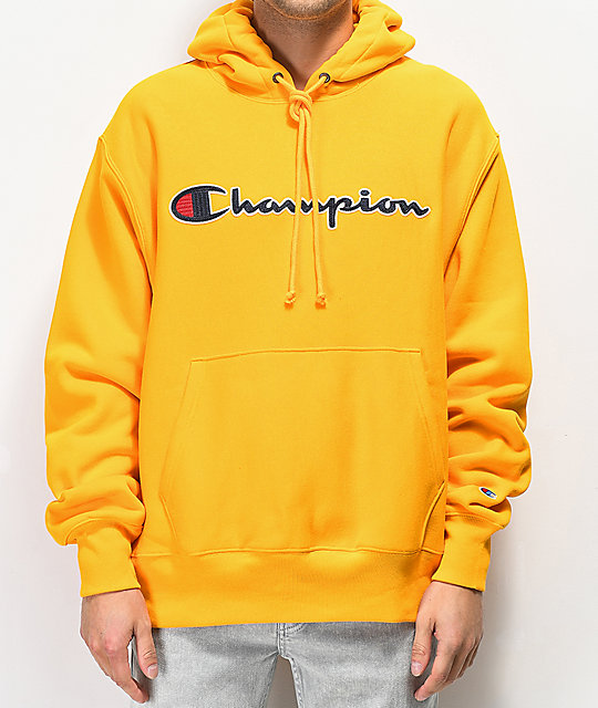 Champion Reverse Weave Gold Chainstitch Hoodie  aa562092aa3b
