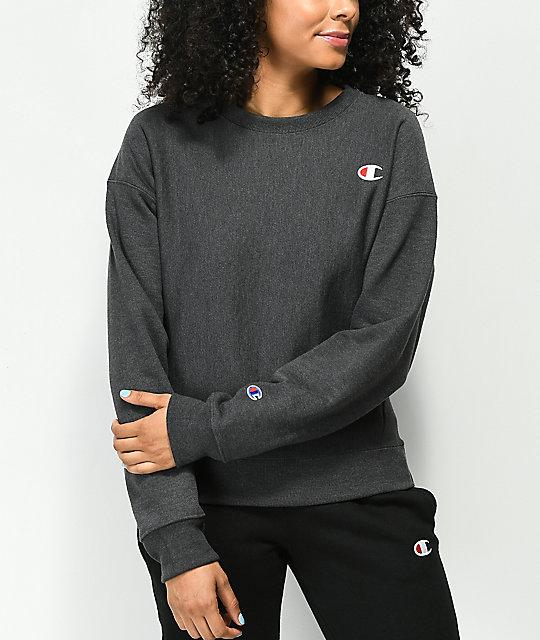 discount coupon discount top-rated authentic Champion Reverse Weave Granite Crew Neck Sweatshirt