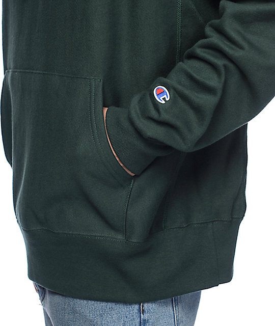 8cb236a9eaf2 ... Champion Reverse Weave Green Hoodie