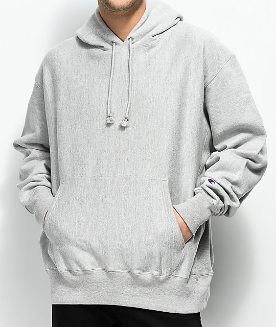 01bf10a85618 Champion Reverse Weave Grey Hoodie