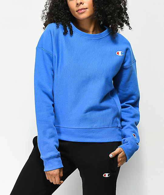 royal blue champion hoodie