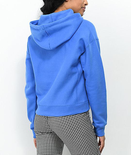 fff3919165aa ... Champion Reverse Weave Groove Blue Hoodie
