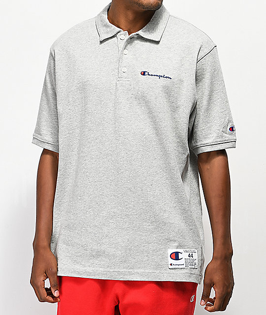 Champion Reverse Weave Heavyweight Gray Polo