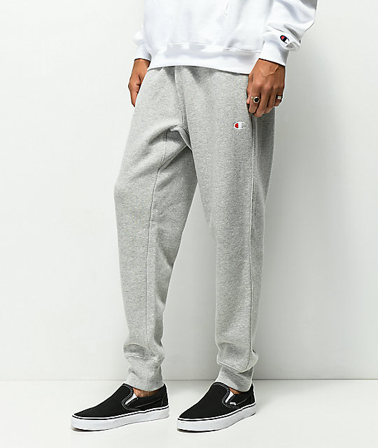 Champion Reverse Weave Logo Grey Jogger Pants