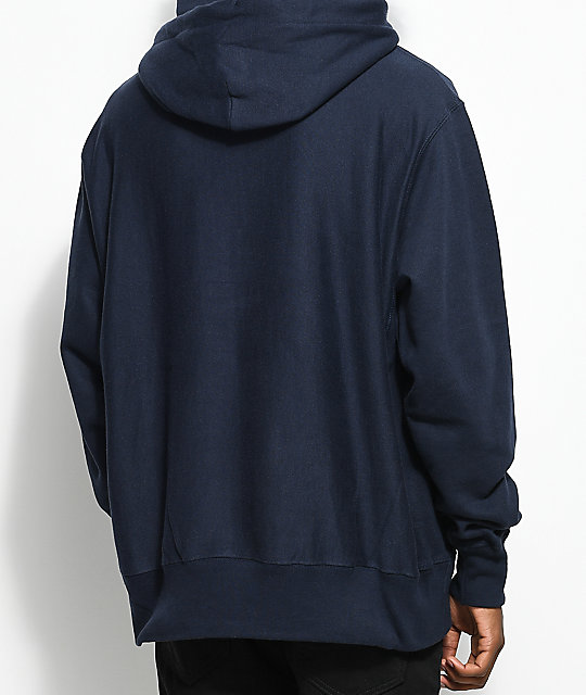 Champion HOODED - Jersey con capucha - navy