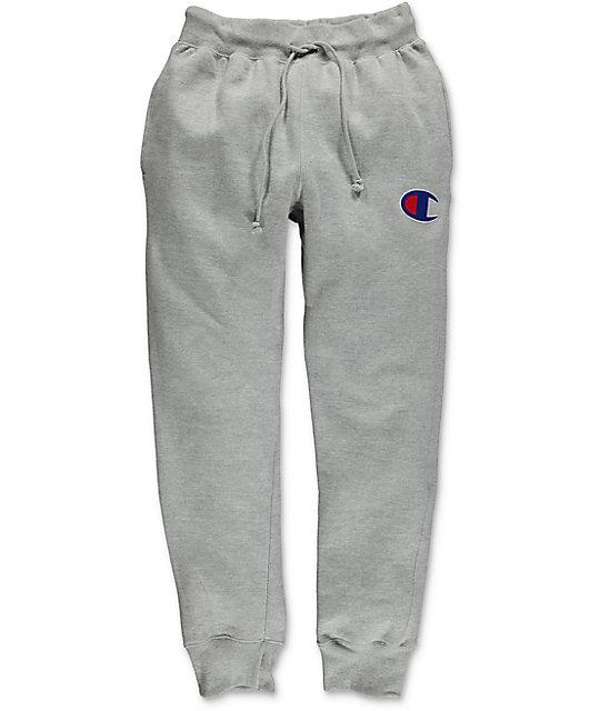 5ca796ba0a5c Champion Reverse Weave Oxford Grey Jogger Pants